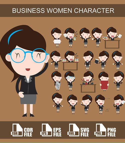pack imahes ppt Businesswoman 2
