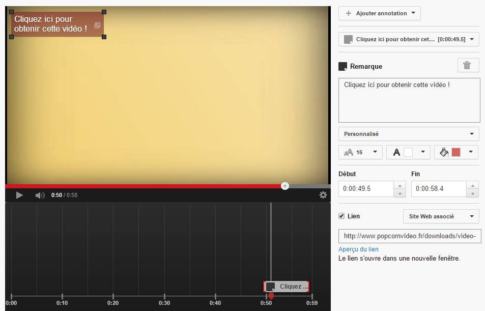 annotation youtube externe