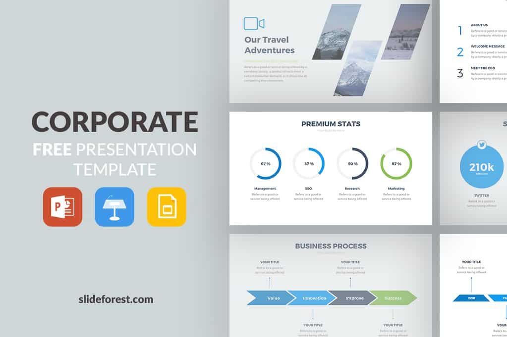 corporate powerpoint template gratuit