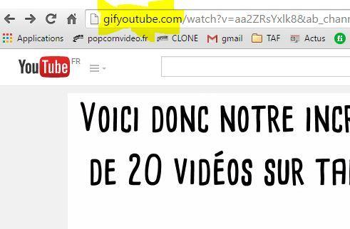 gif avec youtube